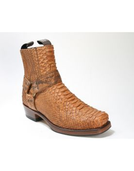8286 Sendra Boots Python Barr Flyer Cuero Mate