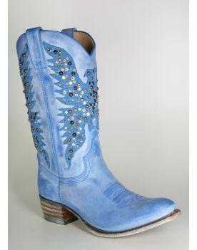 8987 Sendra Cowboystiefel SARA Azul Nieten
