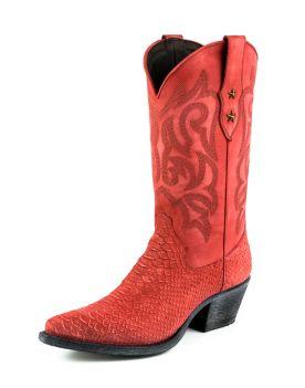 2524 Mayura Cowboystiefel Rojo Lavado