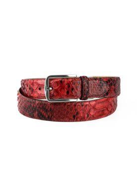 810 Mayura Gürtel Python Rojo