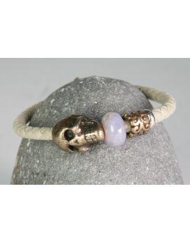 P768  Lederarmband XXL Hardwear Barcelona skull