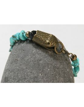 PB551 Armband XXL Hardwear Barcelona Türkis Snake