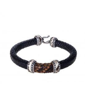 503 Armspange Black Bracelet Echse Python