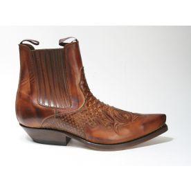2500 Mayura Boots Stiefeletten Cognac Python
