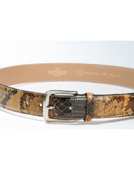 052 Vittozzi belts Gürtel Python Braun