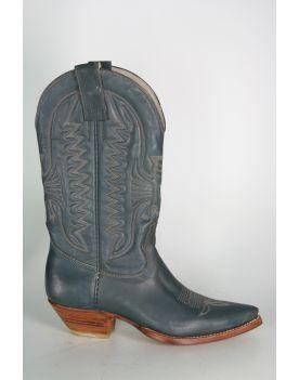 0638 Don Quijote Cowboystiefel Jeans Blue