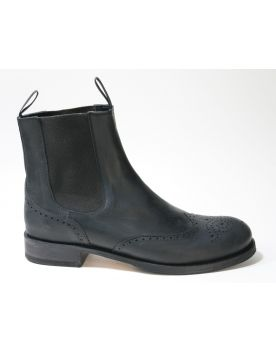 10049 Sendra Chelsea Boots Negro Budapester Muster
