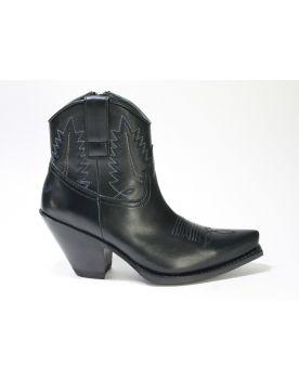 10779 Sendra Cowboy-Stiefelette Gorca Negro