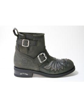 12210 Sendra Boots  Carol Flota Negro Lavado
