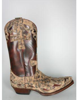16115 Sendra Boots Leo Print Serr. Imit. Lince Flora Libano