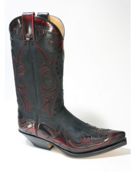 16374 Sendra Boots Cowboystiefel Flora Rojo Sprinter Negro