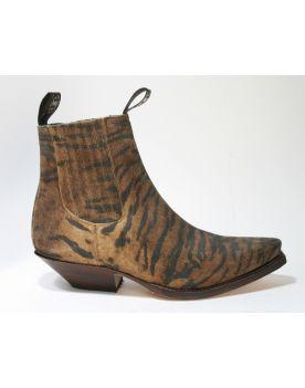 1692 Sendra Boots Animal Print Stiefelette Tigre