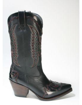17283 Sendra Boots Cowboystiefel LULA Flor. Negro Salvaje Negro