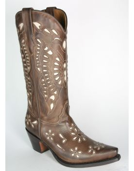 2340 Sancho Abarca Cowboystiefel Natural Marron