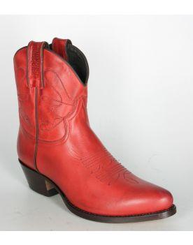 2374 MAYURA Cowboystiefel Kurzschaft Rojo