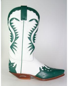 2535 Sendra Cowboystiefel Verde Blanco