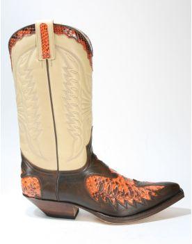 2720 Sendra Boots PICO Jacinto Python Naranja