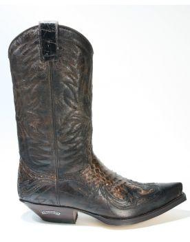 3241 Sendra Boots Cowboystiefel Barbados Quersia Python Braun