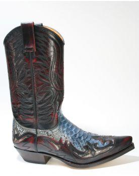 3241 Sendra Boots Hurr. Rojo Piton Fantasia Moon
