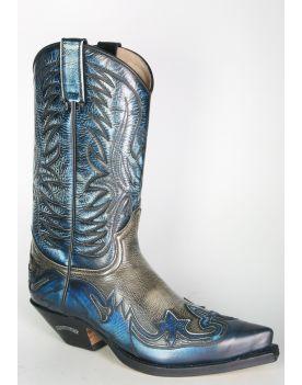3241 Sendra Cowboystiefel Denver Azul Hueso Dirty