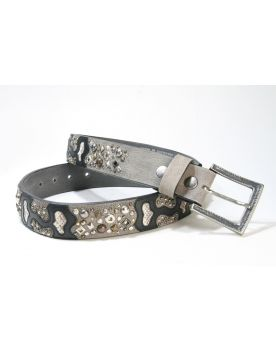 4071 Original Belts Nietengürtel schwarz grau