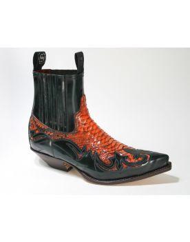 4660 Sendra Boots Flora Verde Python Calendula