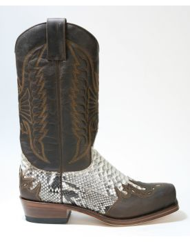 4980 Sendra Boots Mad Dog Tang Python Barr. Natural