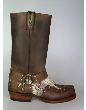 6074 Sancho Bikerboots Saddale Python Natural big
