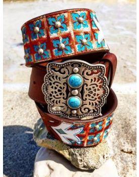 6119 Original Belts Ledergürtel Braun Hippie Boho Style