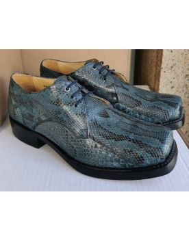 6278 Sancho Schuhe Python Blue