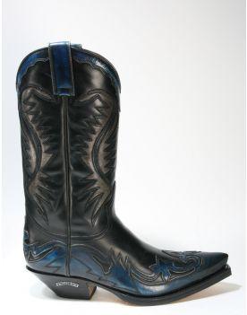 6480 Sendra Boots Cowboystiefel Denver Azul Hurr. Marfil