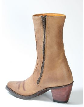 665 Sendra Boots Kurzstiefel Brown Flower