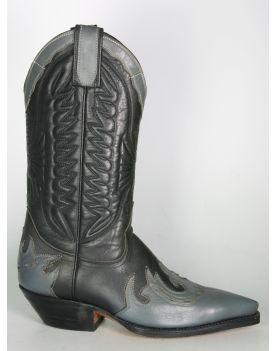 670 Primeboots Cowboystiefel Grey Black