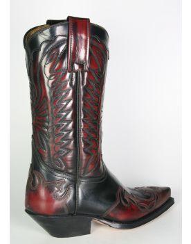 670 Primeboots Cowboystiefel rot schwarz