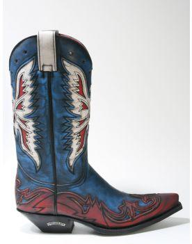 6885 Sendra Boots Cowboystiefel Hurricane Rojo Azul