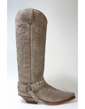 7167 Sendra Cowboystiefel Hochschaft Softy Delave Wildleder