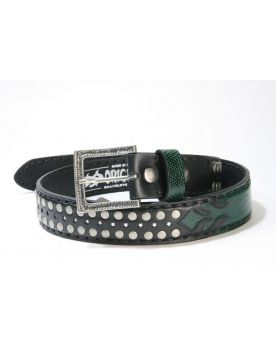 3210 Original Belts Gürtel Negro Iguana Verde