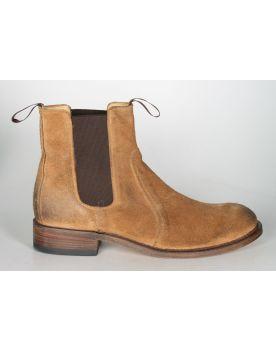 7523 Sendra Chelsea boots Wildleder Brush Camello 1
