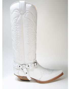 7555 Sendra Boots Hochschaftstiefel Cowboystiefel X Blanco