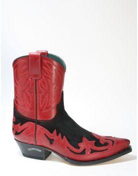 8983 Sendra Cowboyboots Ciclon Rojo Serr. Zabri Negro