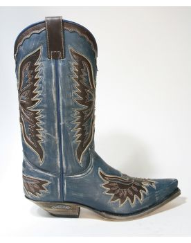 8994 Sendra Boots Cowboystiefel Raspado Azul