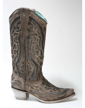 A1569 Corral Boots Cowboyboots Brown Grey