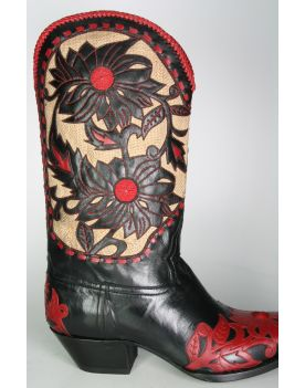 332 Caborca Boots Calabazas Becerro Negro