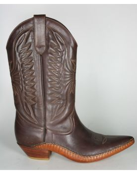 321 Don Quijote Cowboystiefel Opanke Brown