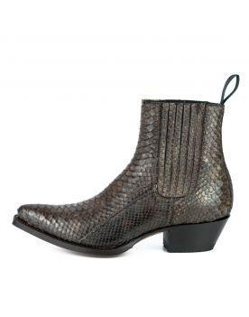 2496 Mayura Boots Stiefeletten Python Marron