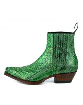 2496 Mayura Boots Stiefeletten Python Verde