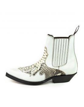 2500 Mayura Boots Stiefeletten Blanco Hueso Python