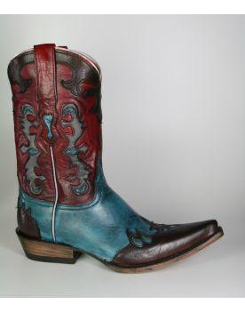 2725 Mezcalero Cowboystiefel Red Turquesa